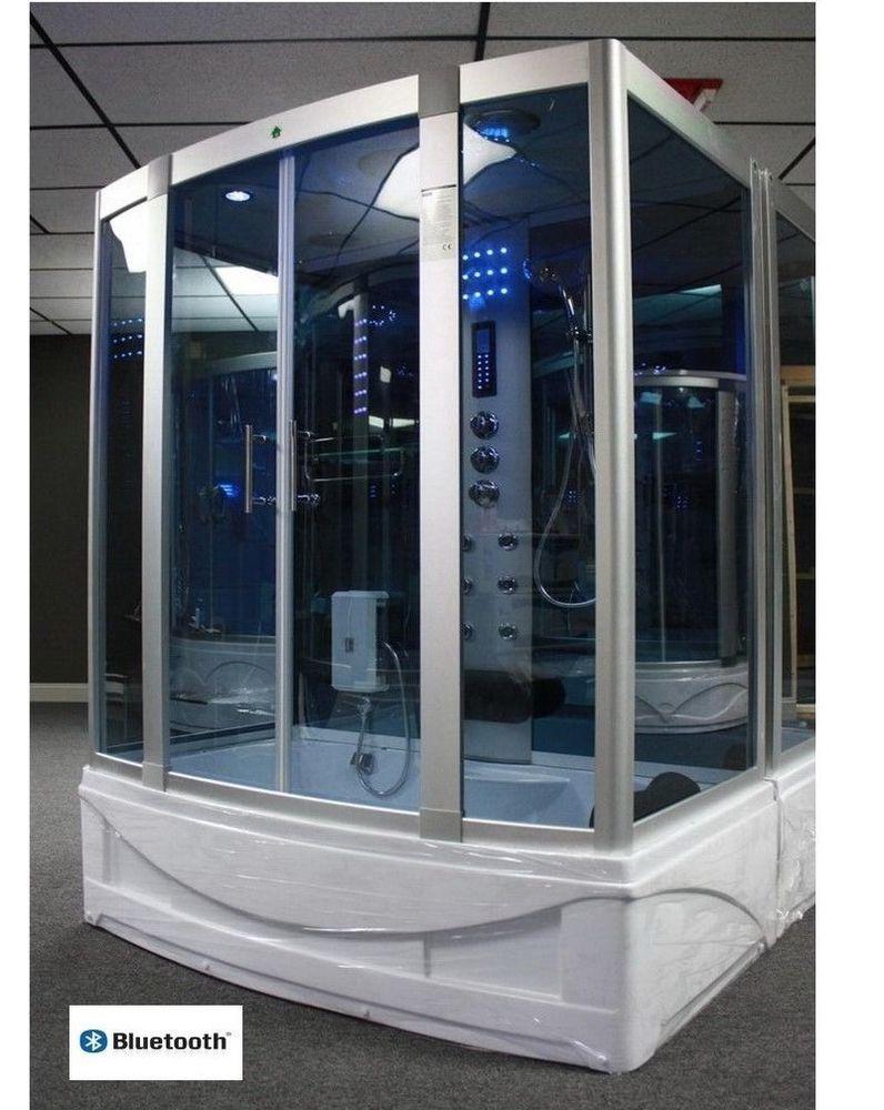 Steam Shower Cabin Whirlpool Tub Bluetooth 6 Year Warranty