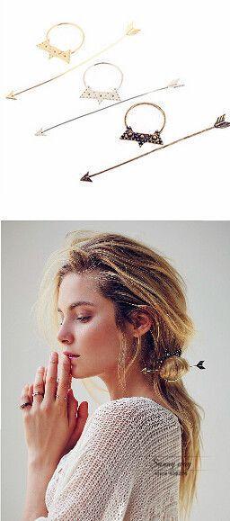 H044 Trasporto libero Dell'annata Bella Freccia Stella Metallo HairpinHair Clip di capelli accessorio all'ingrosso