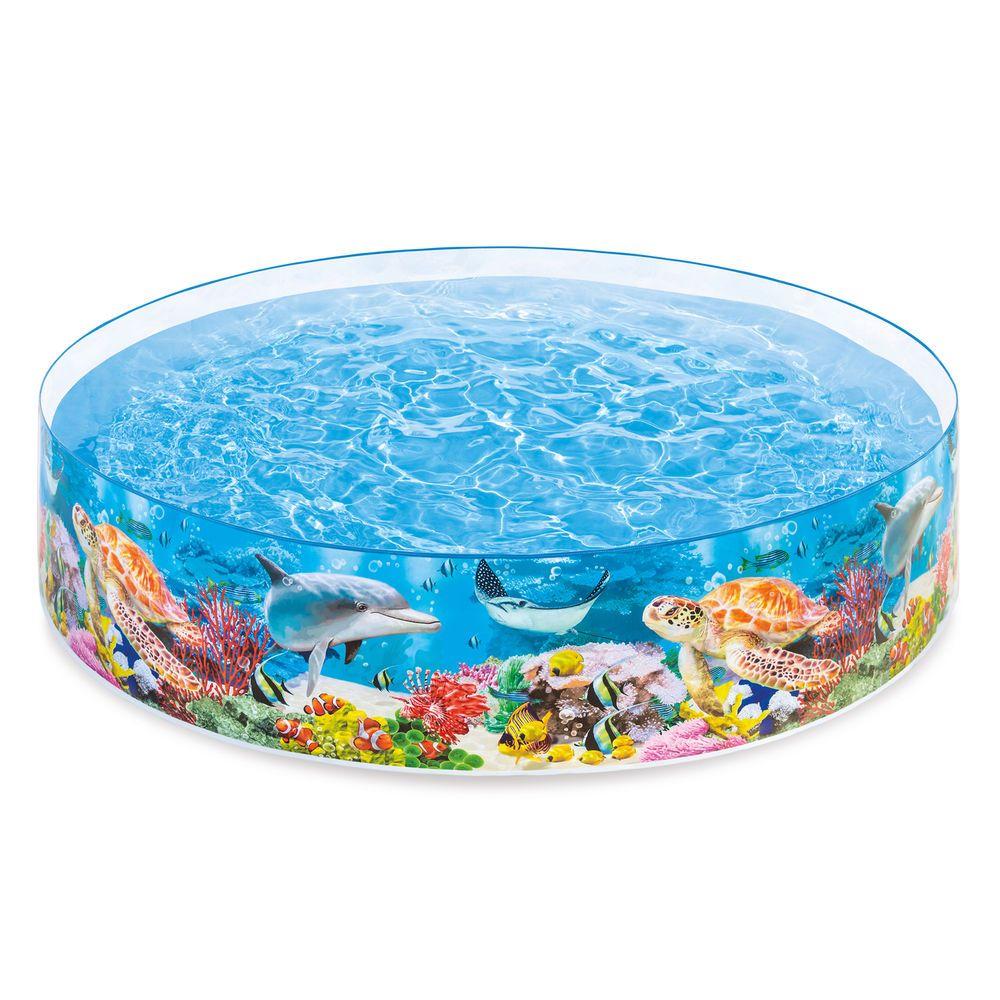 Intex Deep Sea Blue 8 x 1.5 Foot Kids Instant Kiddie Water