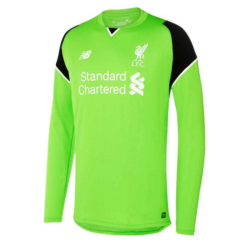 07ac4cd60 Liverpool FC New Balance 2016 17 Home Goalkeeper Long Sleeve Jersey - Green