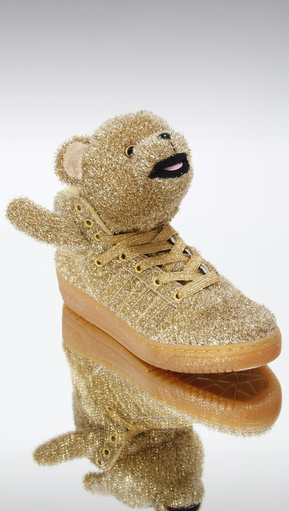 New Adidas x Jeremy Scott Bear trainers in Old Gold  amp  Silver just  dropped and 3dd5cfe83