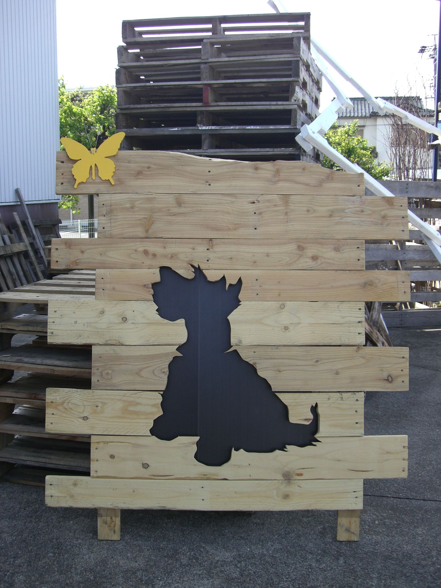 Pallet Wood-Scottish Terrier -Silhouette-03