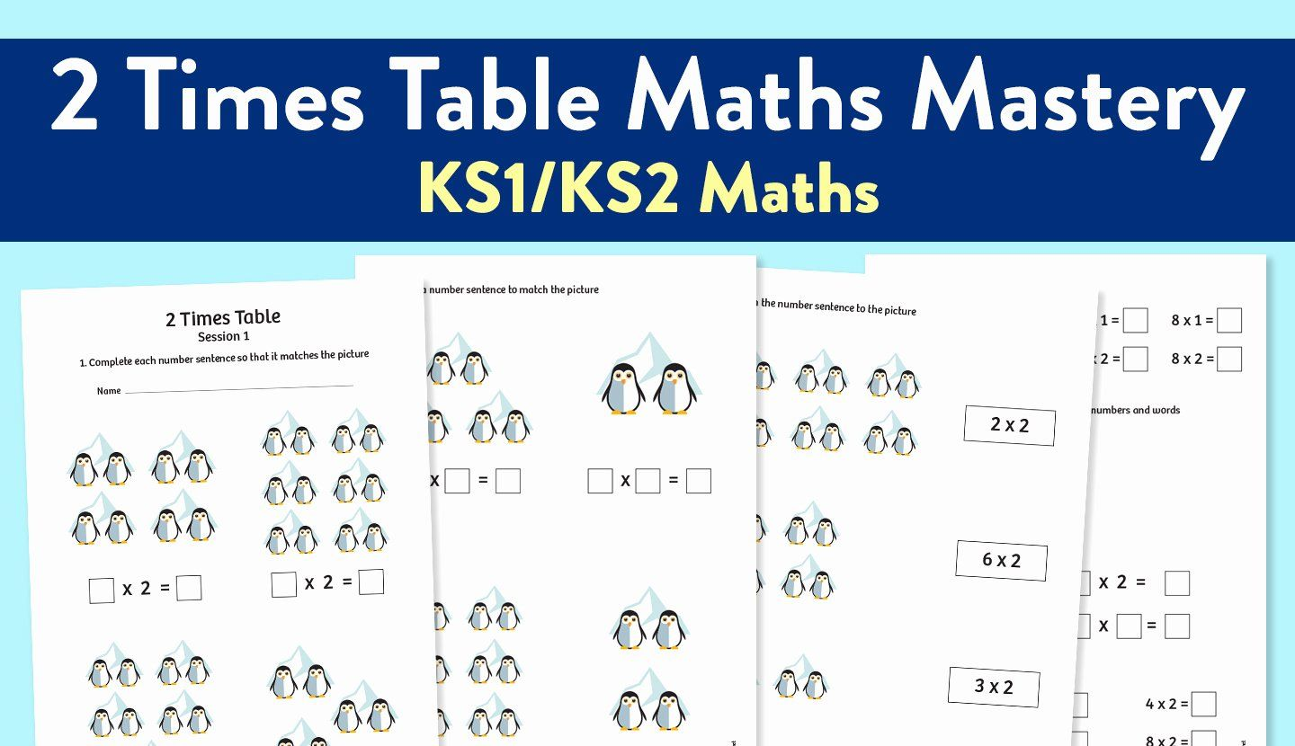 50 2 Times Table Worksheet In