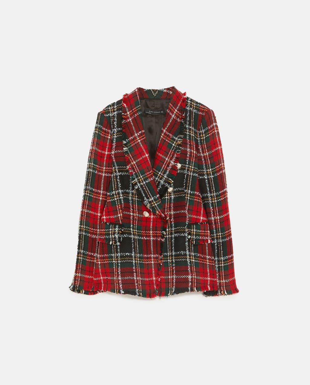 giacca scozzese zara