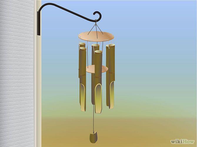 Ein Bambuswindspiel Basteln Ideas For My Garden Bambus Basteln