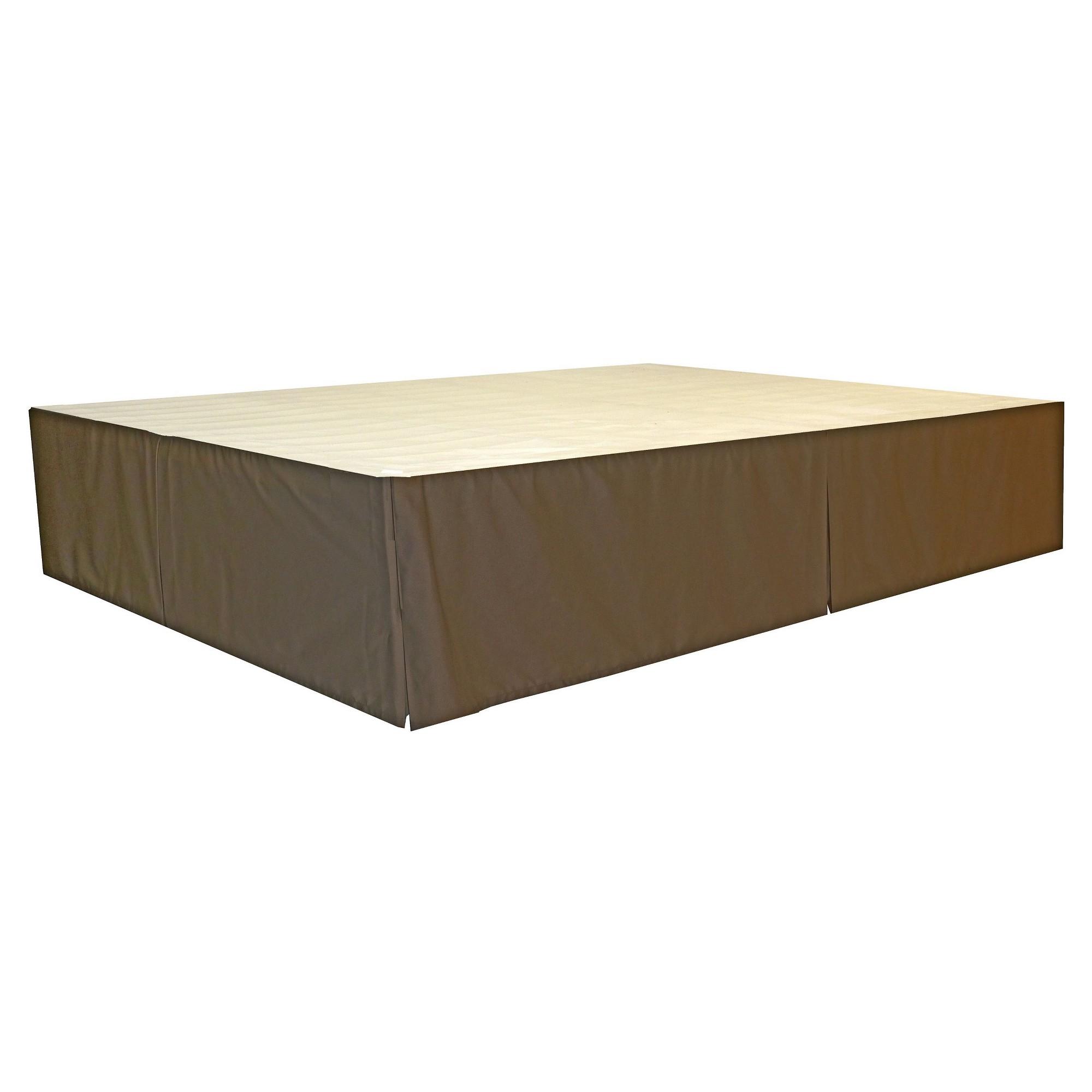 Durabed Steel Platform Bed Frame Decorative Bed Skirt Brown
