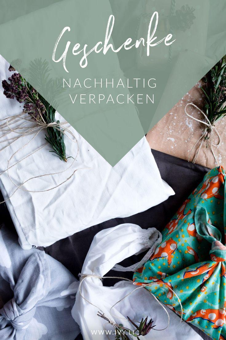 Geschenke nachhaltig verpacken   Kreativ verpacken: Geschenke und ...