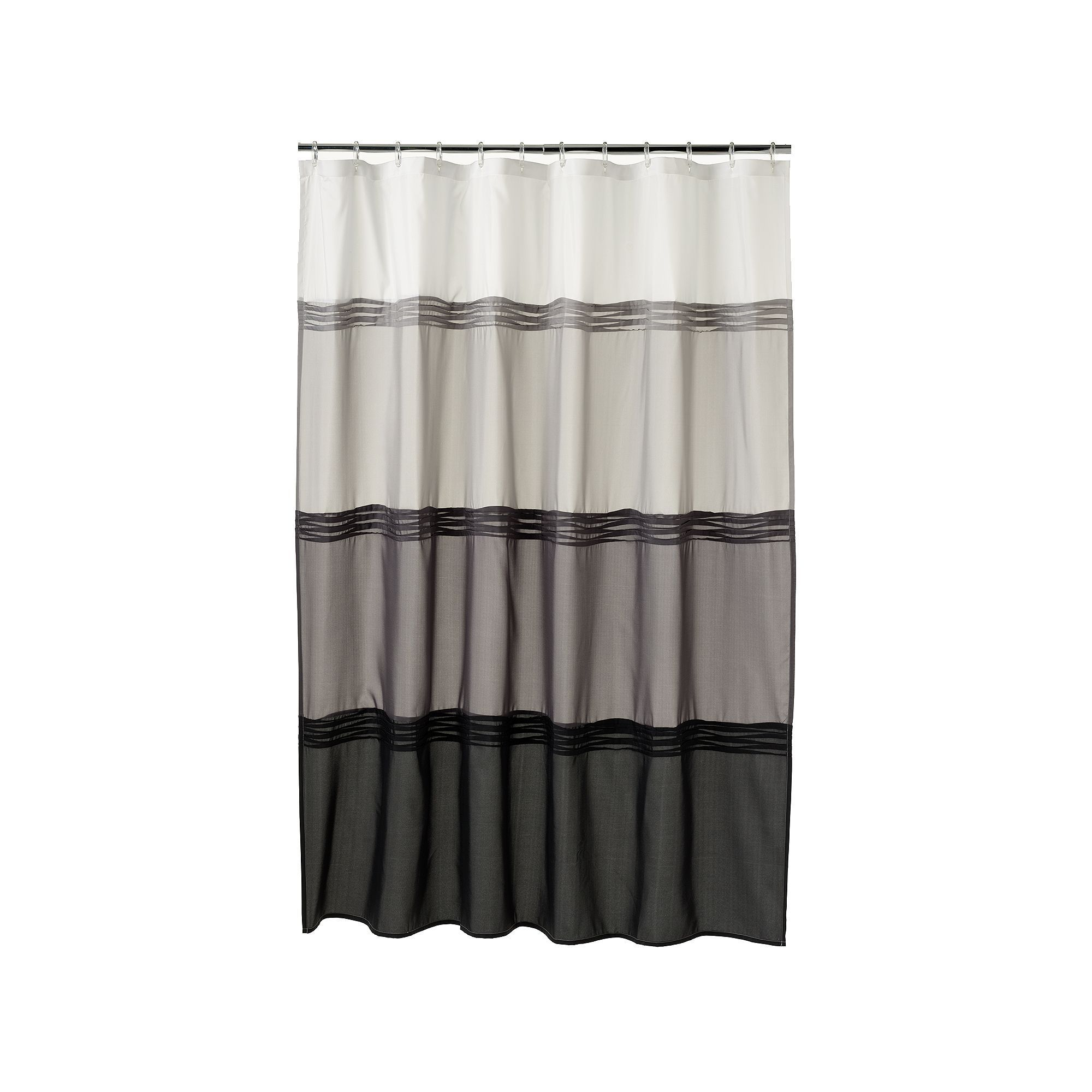 Home ClassicsAR Black Pintuck Fabric Shower Curtain