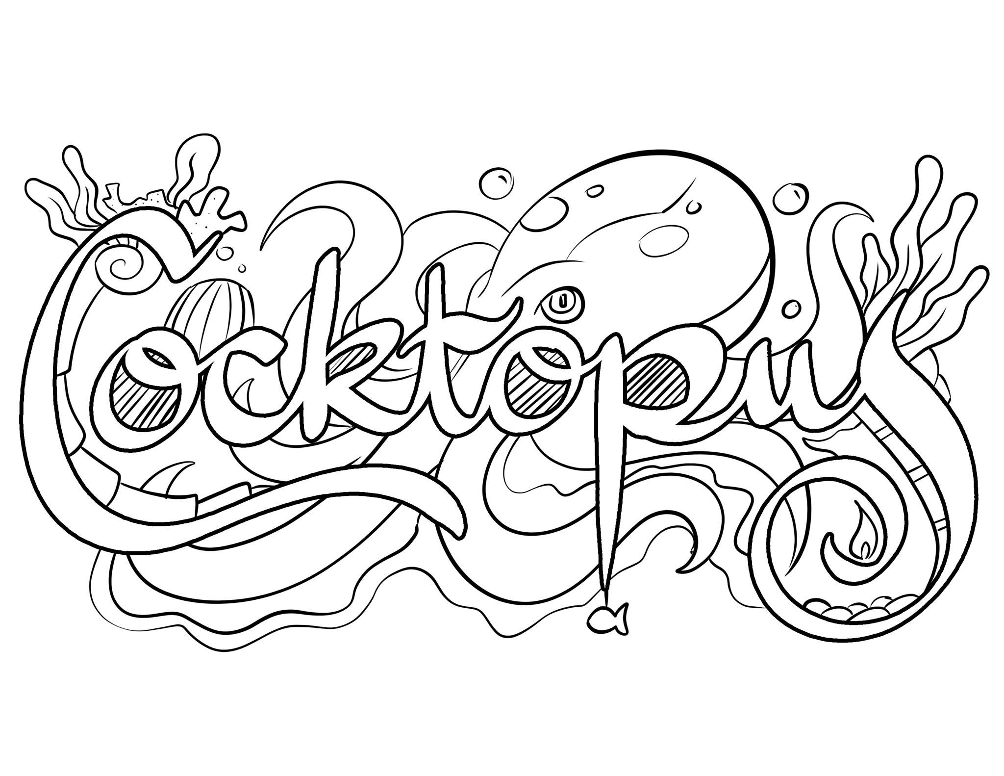 It is an image of Breathtaking Printable Curse Word Coloring Pages