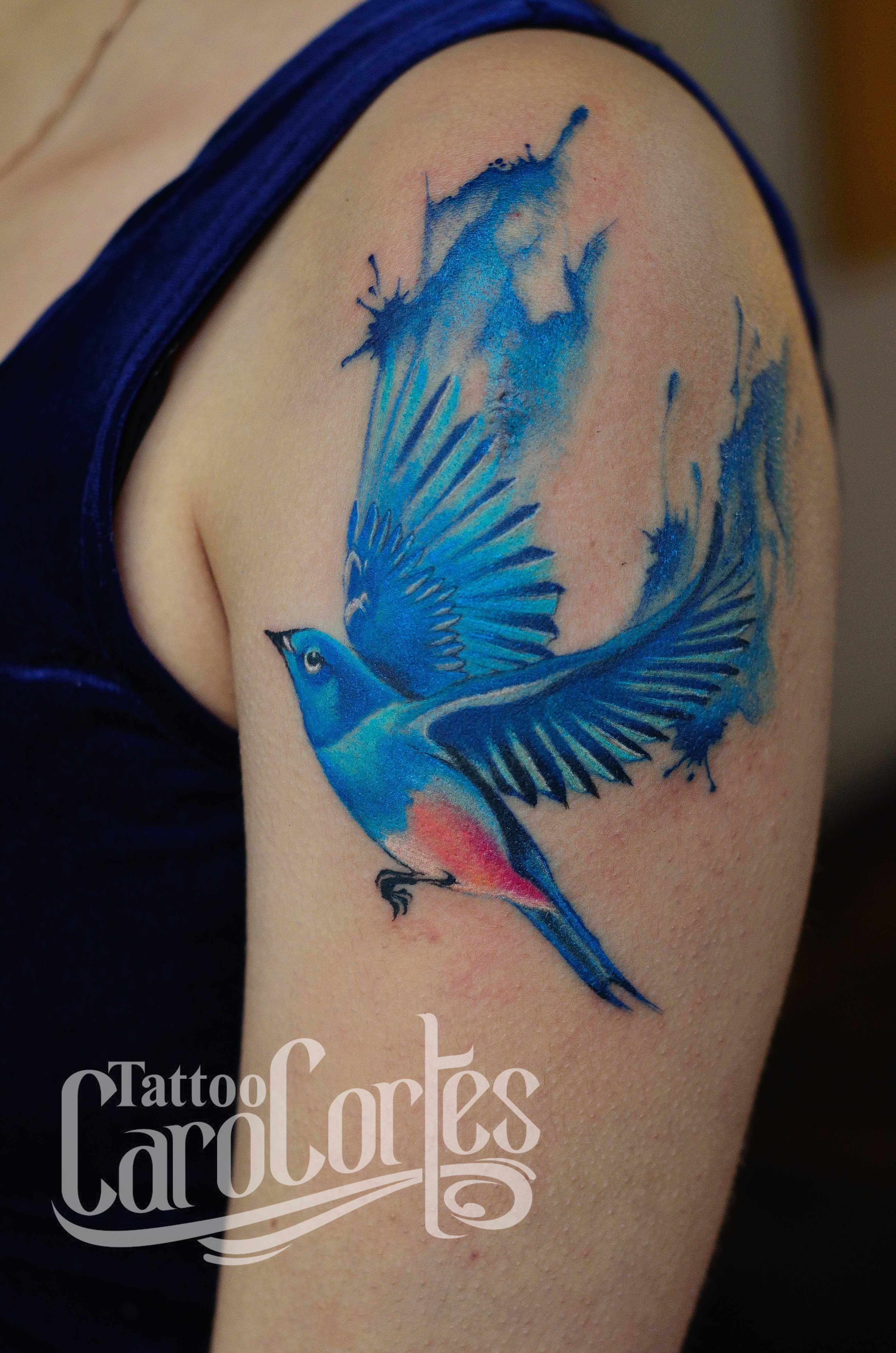 Watercolor tattoo artists in houston texas - European Bee Eater Watercolor Azulejo Y Acuarela Caro Cortes Colombian Tattoo Artist