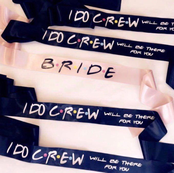 Friends theme bridal sashes, Bridesmaid sashes, Bachelorette party, CUSTOM DESIGN SASHES! Be differe