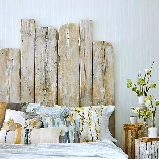 6 Statement Modern Country Style Headboards Driftwood Headboard Headboard Styles Boho Headboard