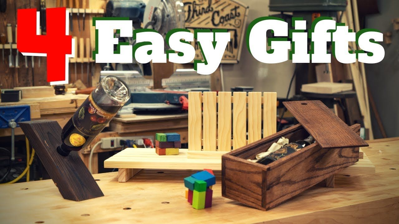 4 Easy Diy Woodworking Gift Projects Youtube Wood Working Projects Diy Wood Working W In 2020 Wood Working Gifts Woodworking Projects Woodworking Projects Gifts