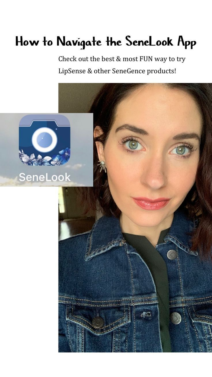 The SeneLook app is the BEST way to try on LipSense