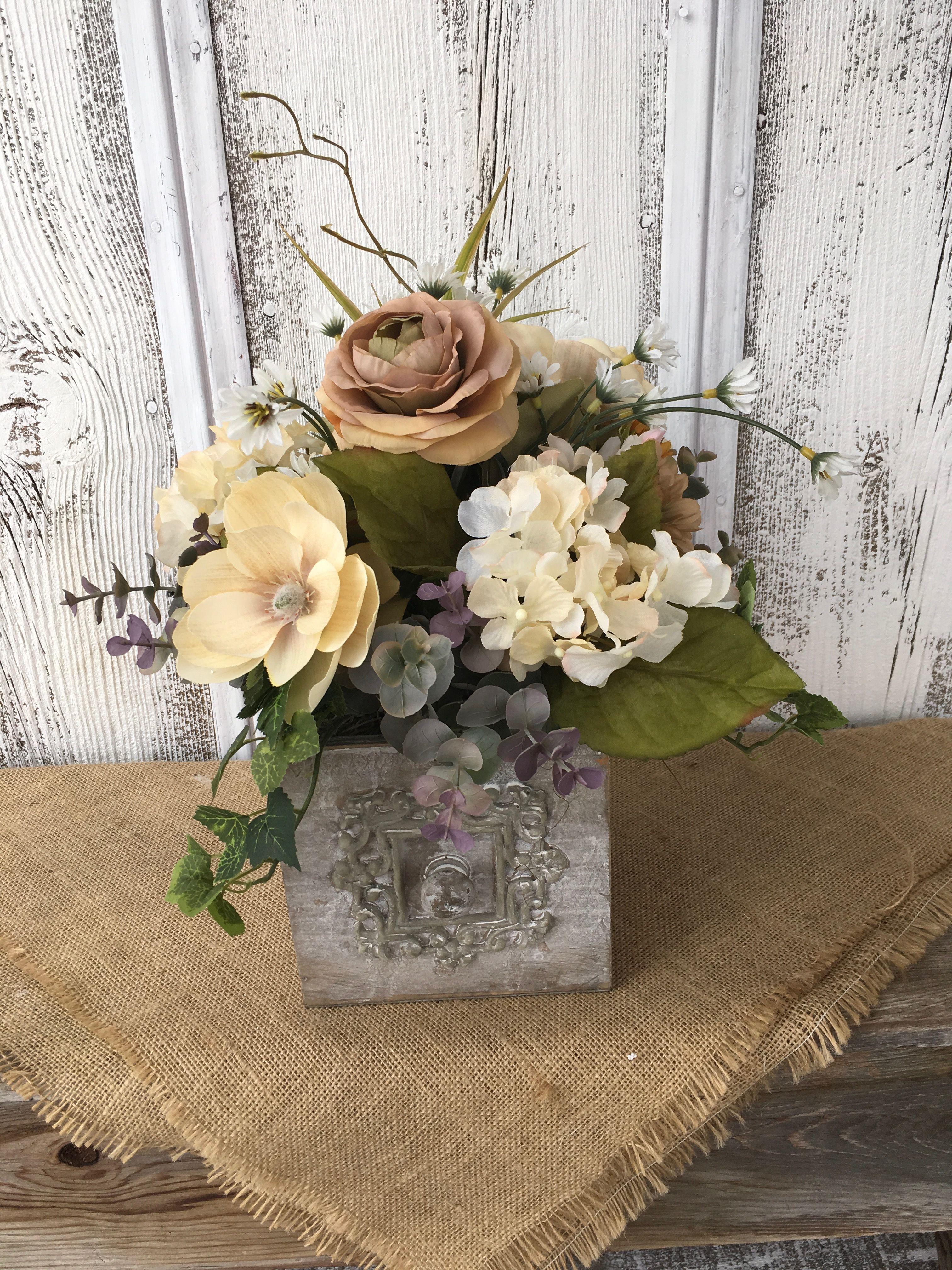 Rustic Floral Arrangement Floral Centerpieces And