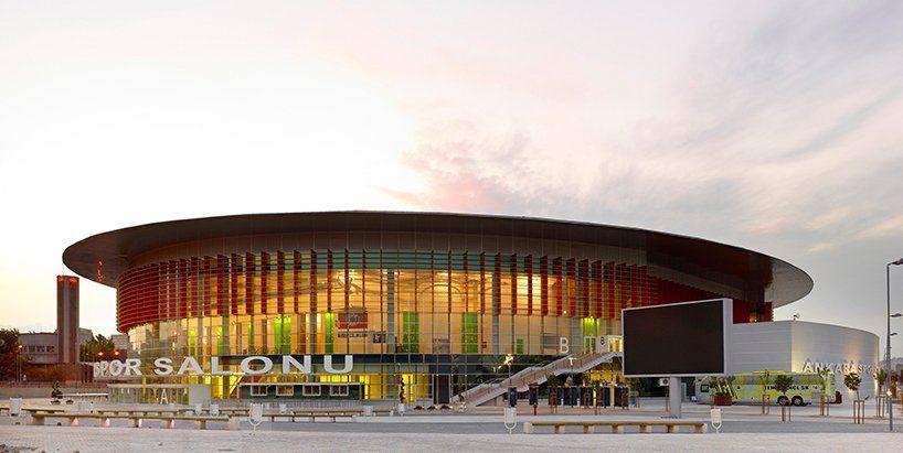 Yazgan Design Architecture Connects Ankara Arena Sports Hall With City In 2020 Architecture Architecture Design Sport Hall