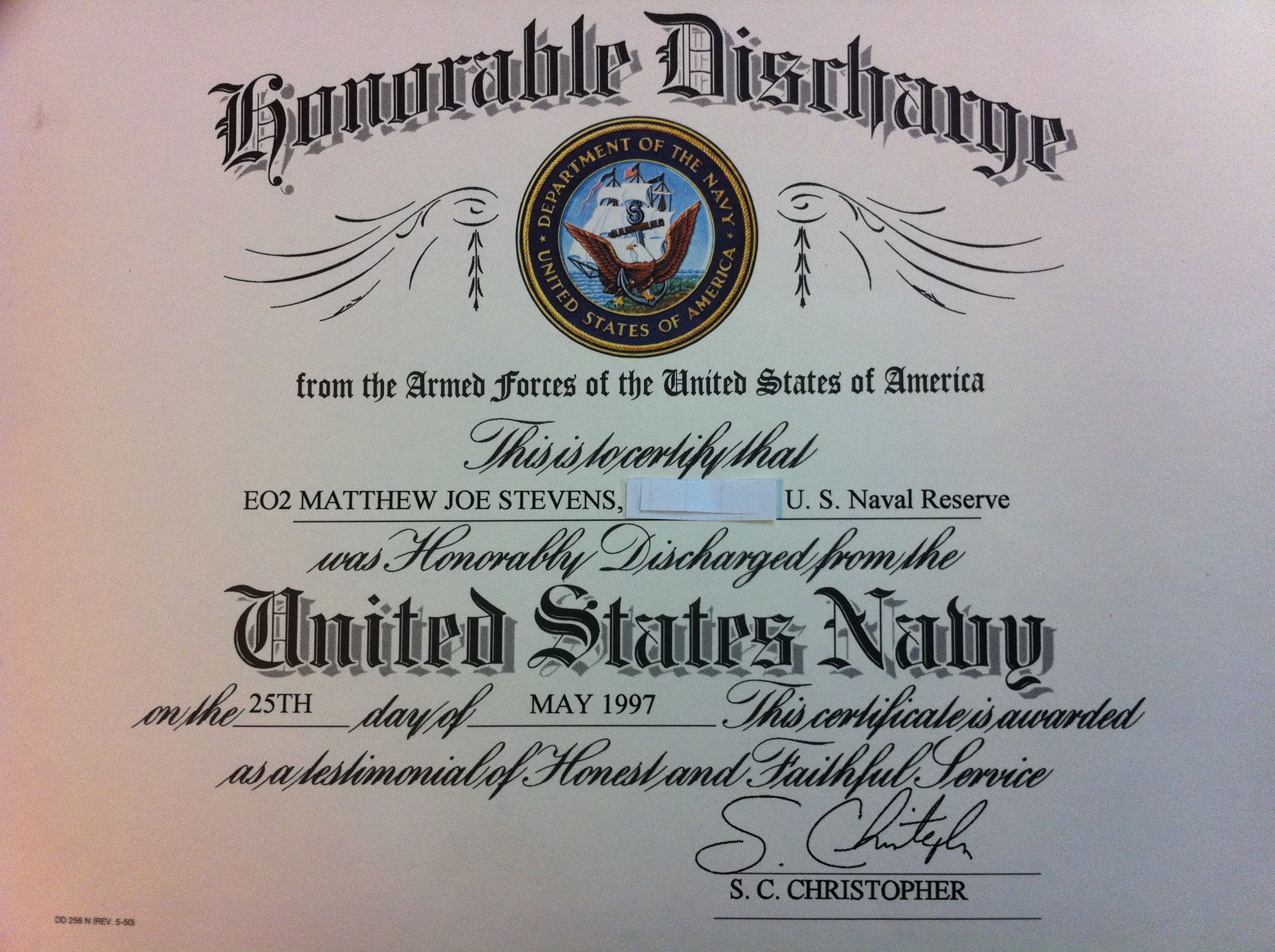 Matthew j stevens u s navy seabees honorable discharge from 8 matthew j stevens u s navy seabees honorable discharge from 8 years of dedication service 1betcityfo Gallery
