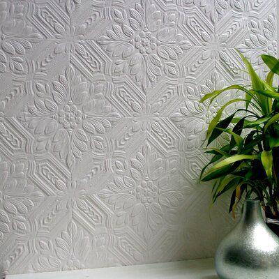Ophelia Co Keesha Supaglypta 33 X 20 5 Damask 3d Embossed Wallpaper Paintable Textured Wallpaper Embossed Wallpaper Paintable Wallpaper