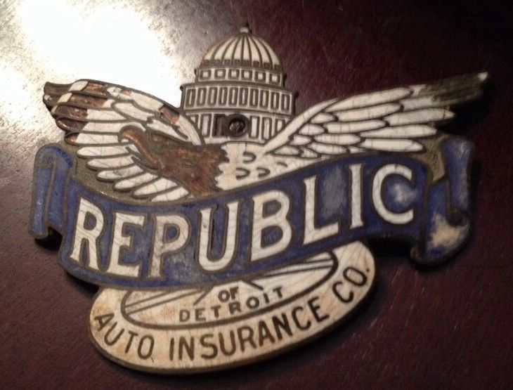 Republic Auto Insurance Of Detroit Michigan Metal Eagle Capitol