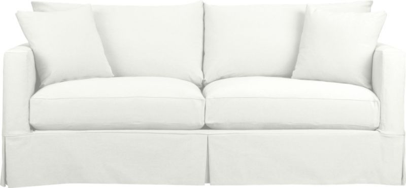 Willow White Slipcovered Sofa Reviews Crate And Barrel Home Design Living Room Sleeper Sofa Pull Out Sofa