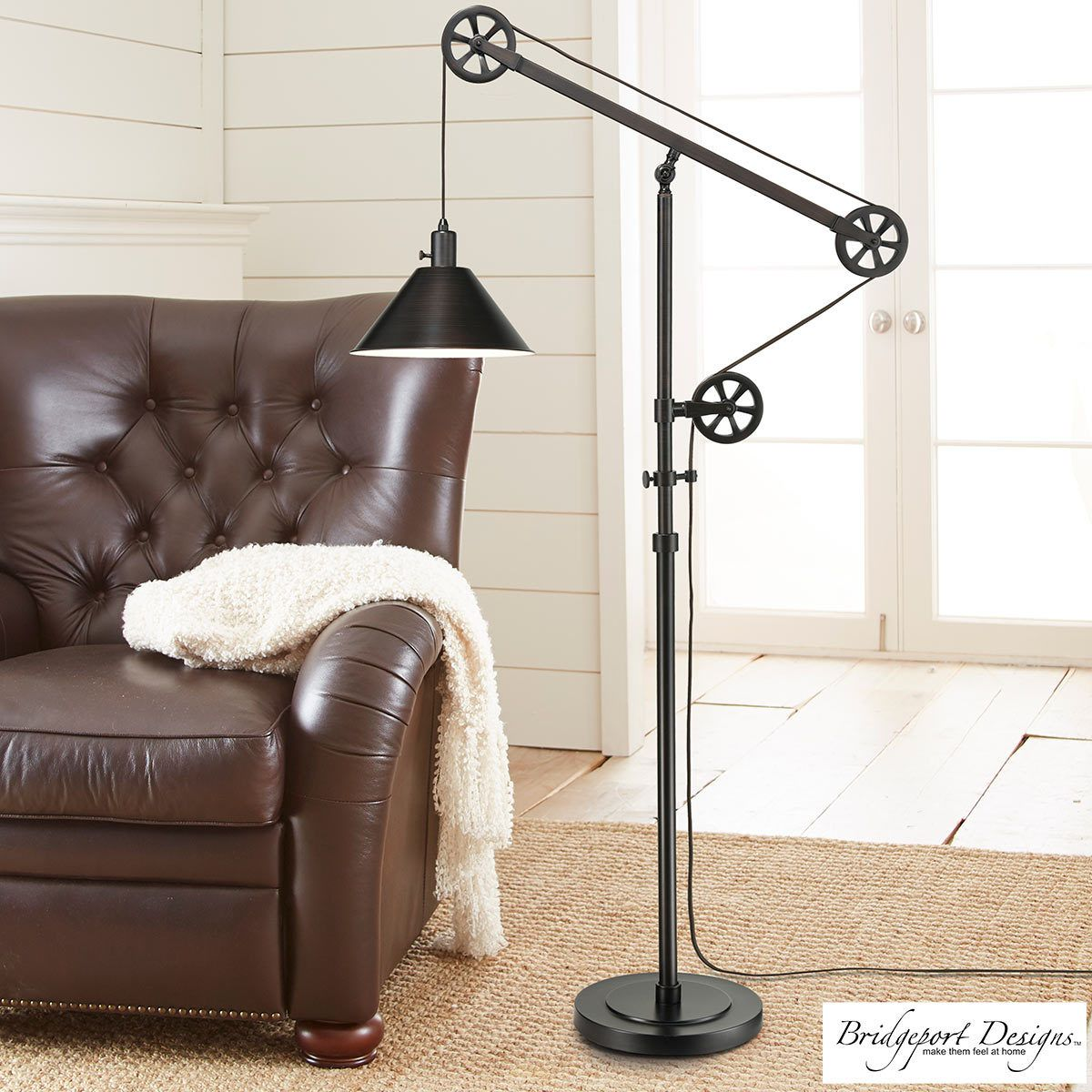 Bridgeport Designs Pulley Floor Lamp Costco Uk Pulley Floor Lamp Bronze Floor Lamp Industrial Floor Lamps