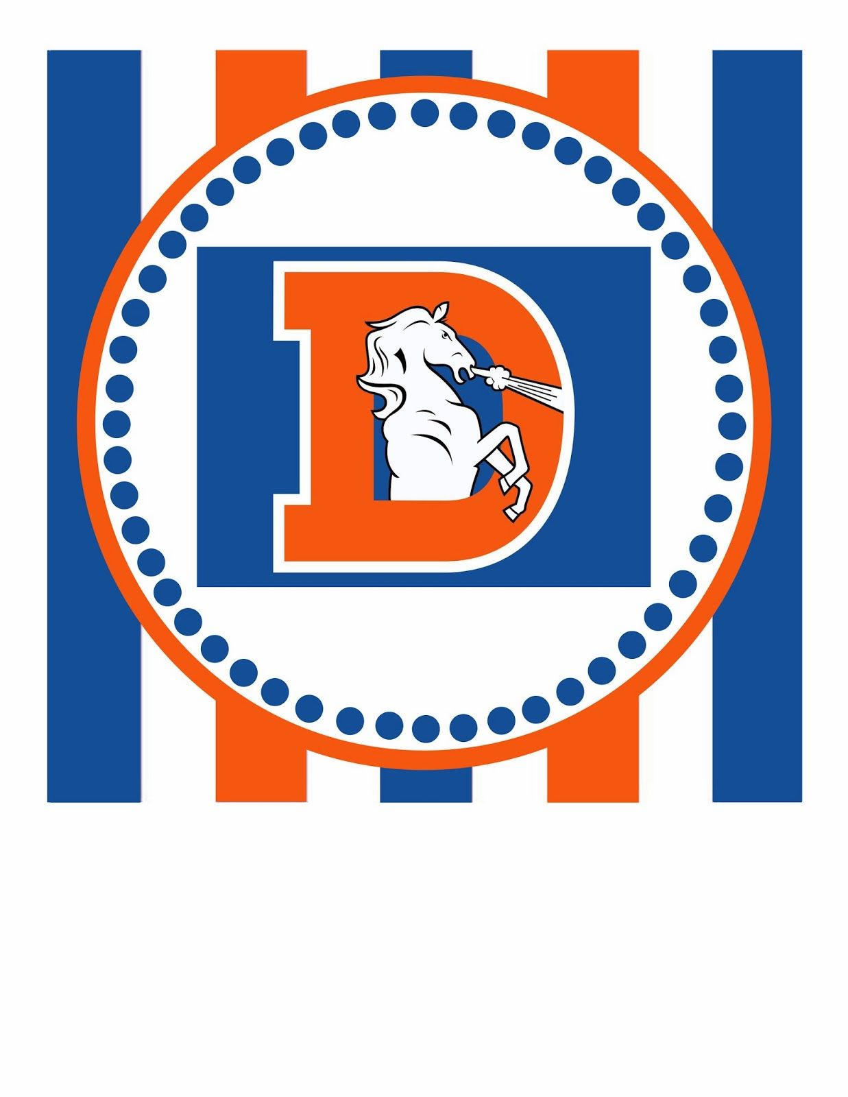 Denver Broncos Banner | Free Printable- this is the first part of ...