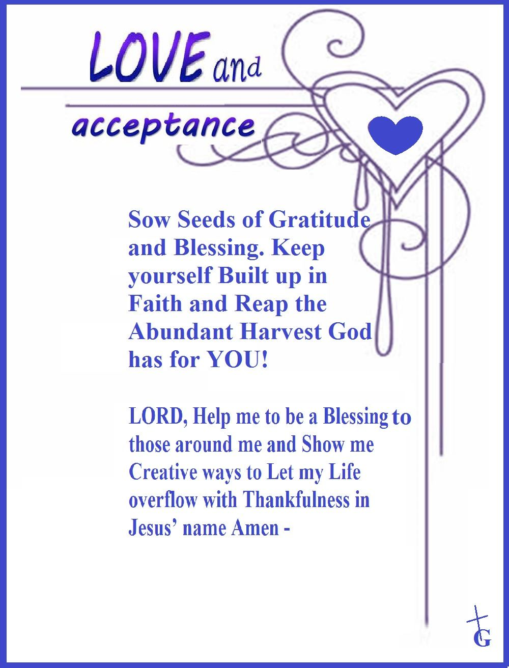 Love and Acceptance!