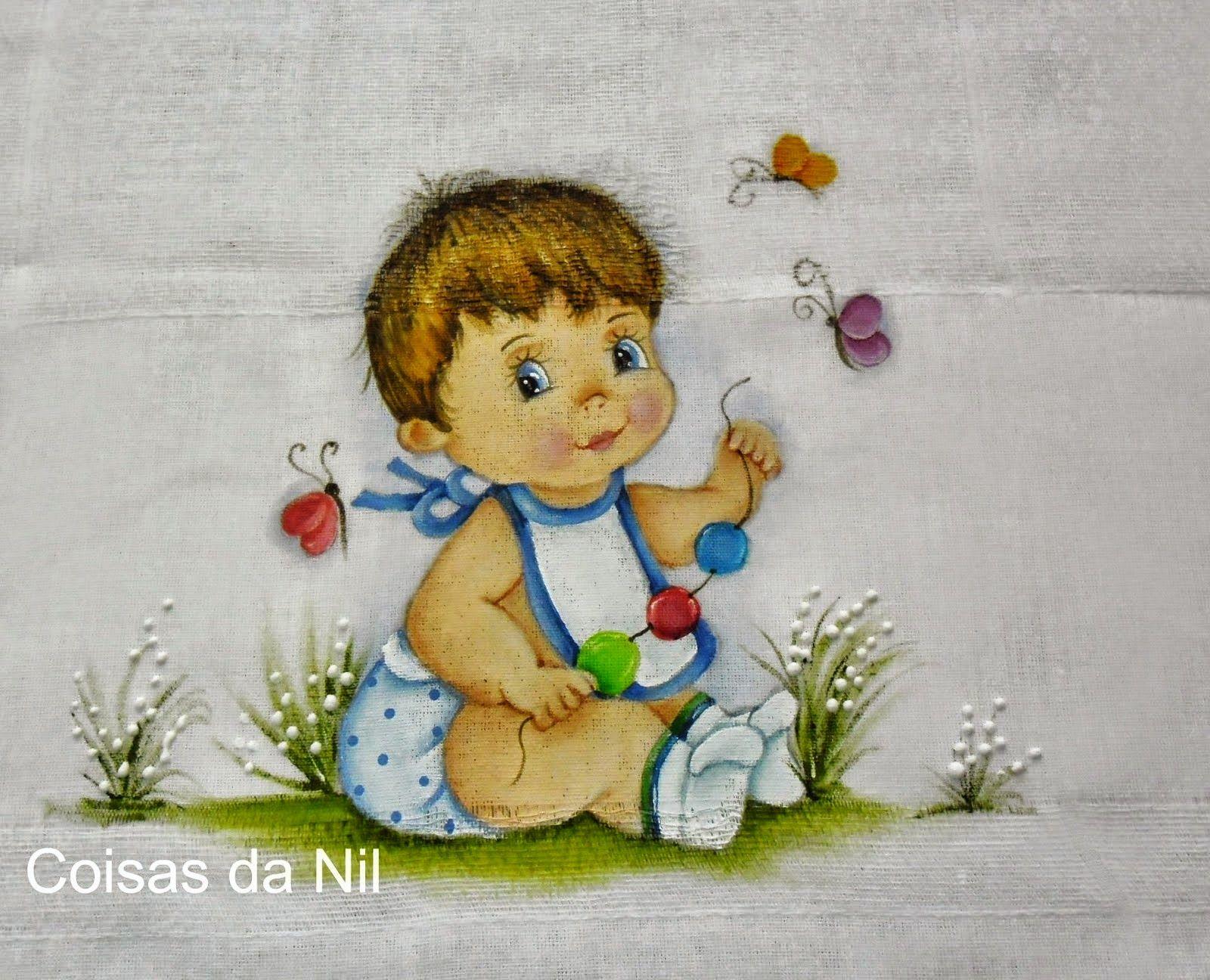 Extremamente Pintura em Tecido Passo a Passo: Pintura em Fralda para menino  BD09