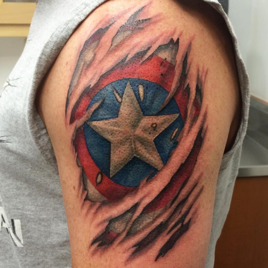 atomic lotus tattoo sweet captain america skin tear to tattoos pinterest lotus. Black Bedroom Furniture Sets. Home Design Ideas