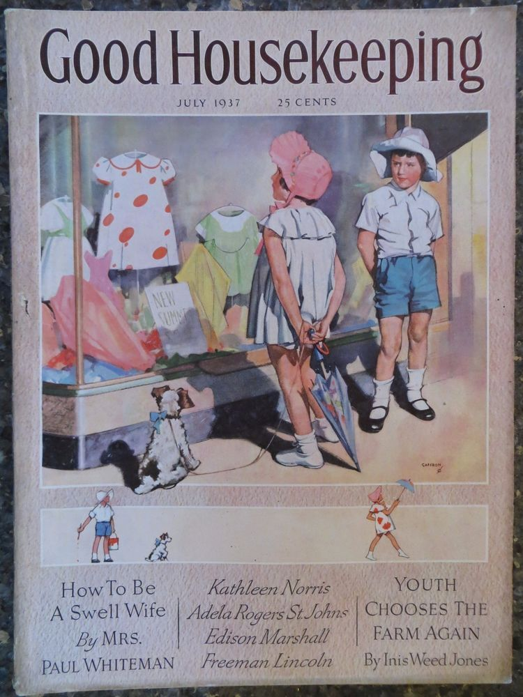 Good Housekeeping Magazine July 1937 Horace Gaffron Cover VINTAGE ADS
