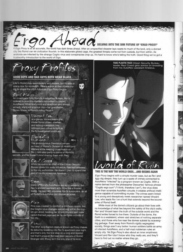 Shukou Murase 3 Ergo Proxy All About Time Anime