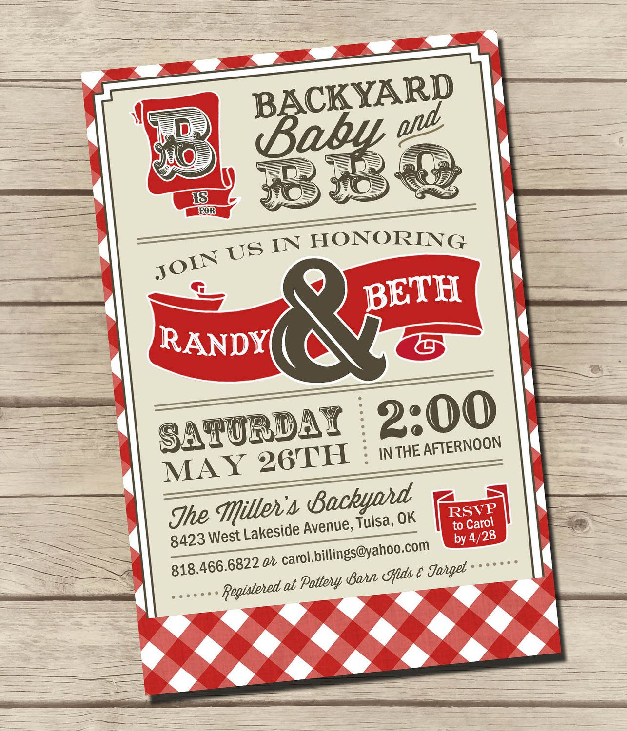 PRINTABLE - Couples BBQ - Baby Shower Invitation - Digital | Shower ...