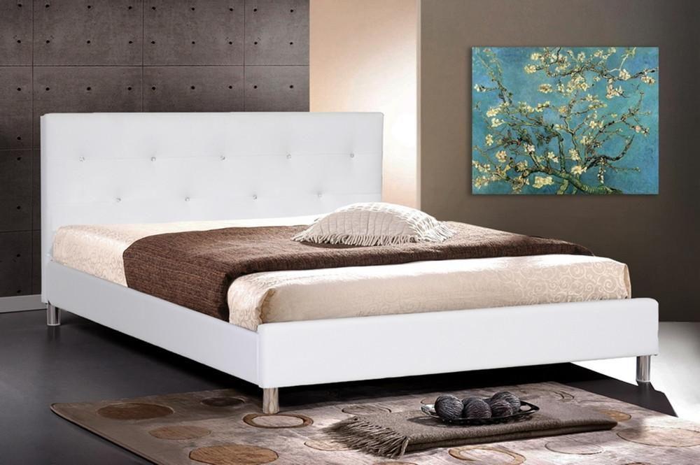 Damion Full White Modern Bed Frame Modern Bed Modern Platform Bed Upholstered Platform Bed
