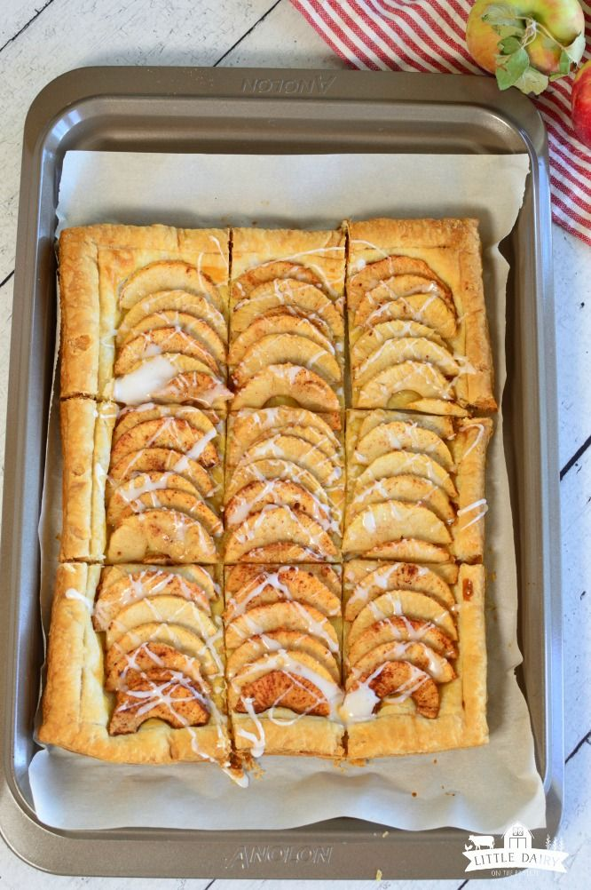 Simple Puff Pastry Apple Tart | Little Dairy On the Prairie