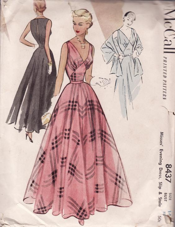 McCall 8437 | Vestidos de fiesta de 1950, Fiesta de 1950 y Patrones ...
