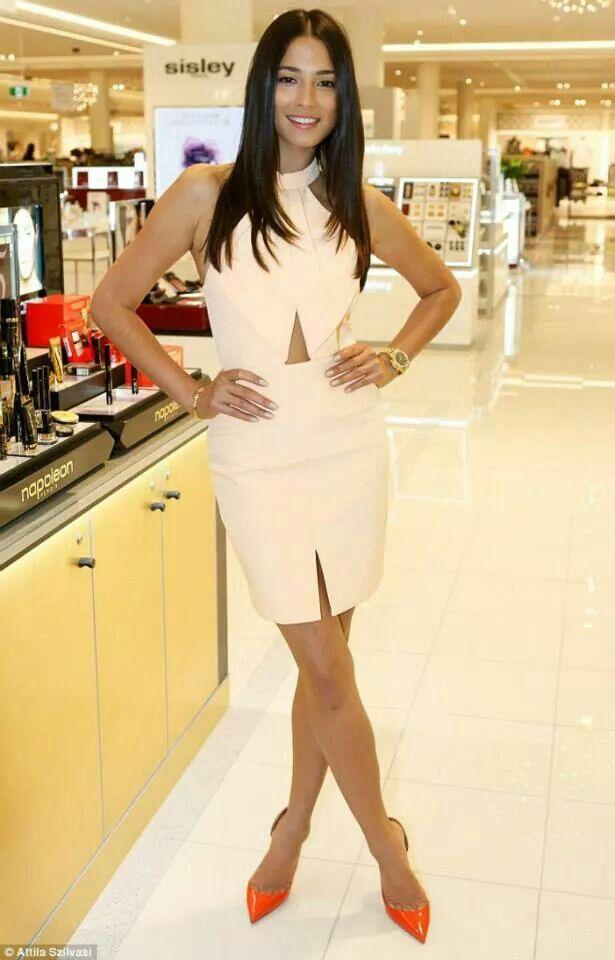 White skirt & top