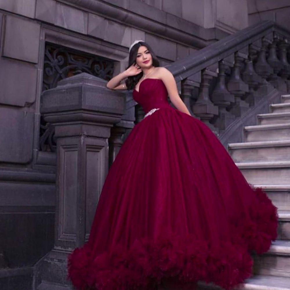 Burgundy Prom Dresses 2020 Prom Dresses Pleats Prom Dresses Ball Gown Prom Dresses Red Prom Dresses Dark Red Prom Dresses Pleats Prom Dresses Ruffle Prom In 2021 Burgundy Prom Dress Ruffle [ 1000 x 1000 Pixel ]