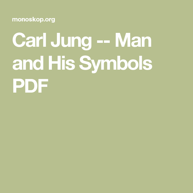 Carl Jung Man And His Symbols Pdf These Books I Need To Read