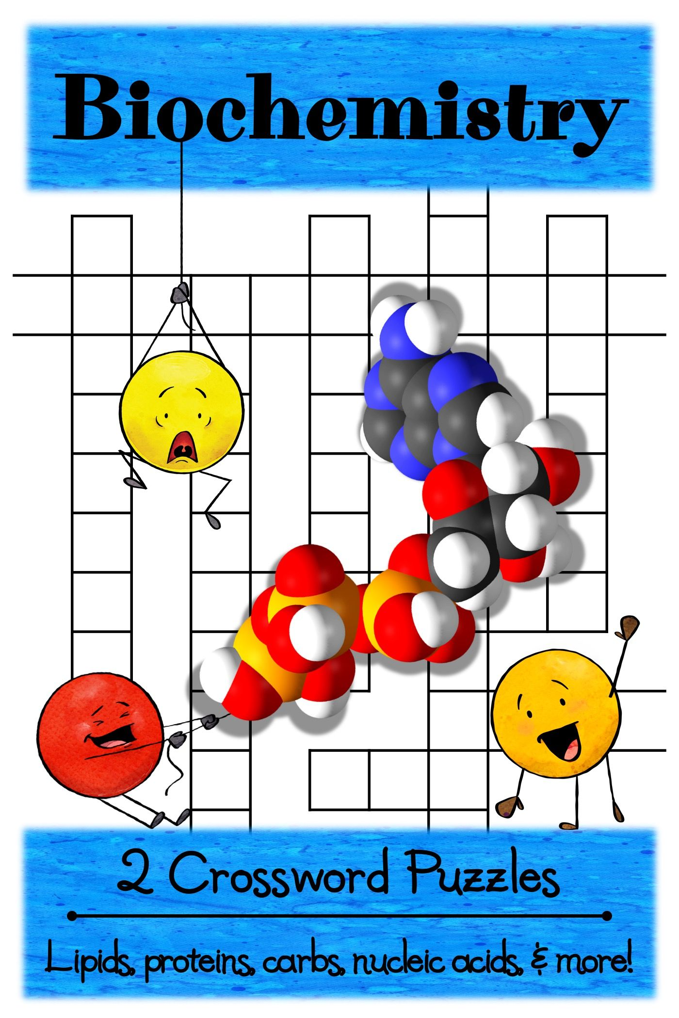2 Biochemistry Crossword Puzzles Activities In