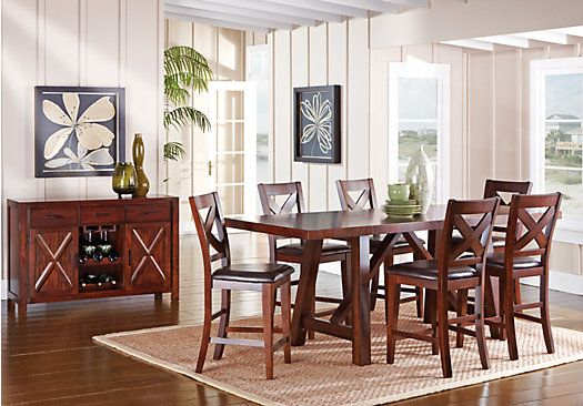 Shop For A Mango 7 Pc Counter Height Dining Room At Rooms To Go Find Dining Room Sets That Will Dining Room Sets Rooms To Go Furniture At Home Furniture Store