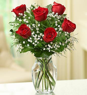6 Stems Red Love S Embrace Roses Nancy S Floral