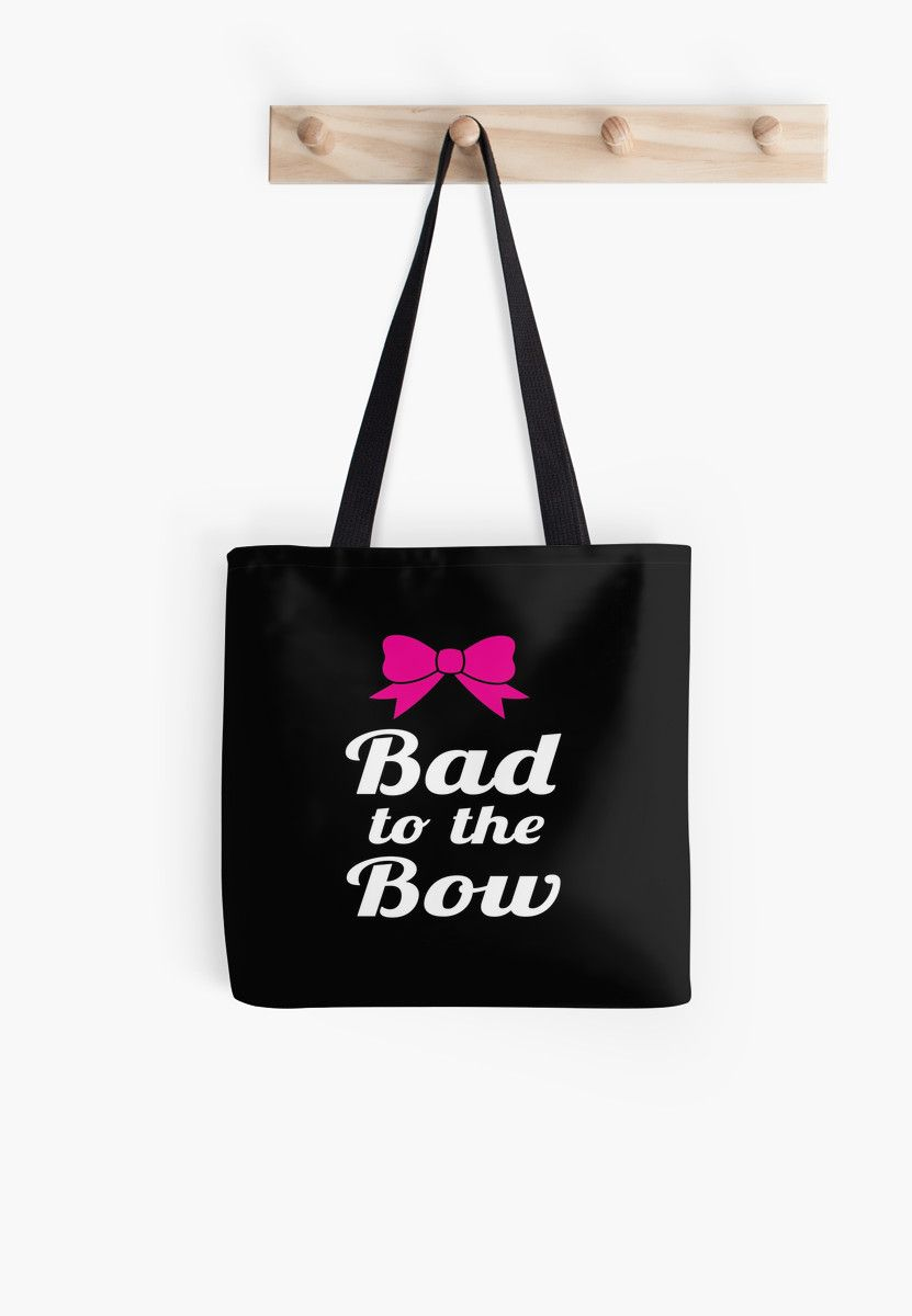 Bad to the Bow wht blk by Glamfoxx Roter Tote Bag 9afad7c514584