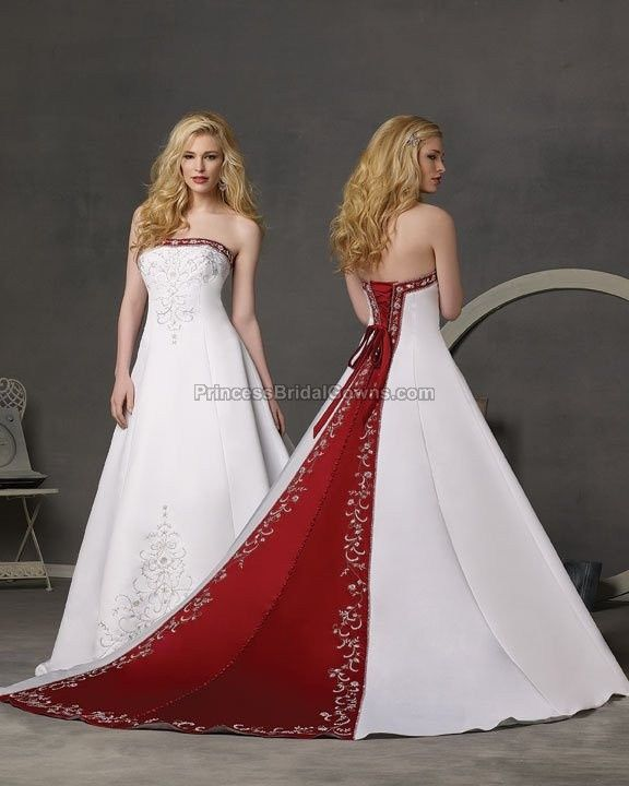 Crimson And White Wedding Dresses For Women Tide Dress Made By Forever Yours