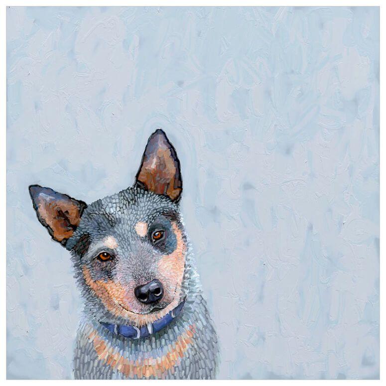 Best friend blue heeler wall art blue heeler dog