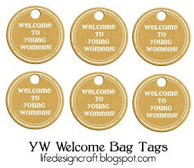 Life.Design. and the Pursuit of Craftiness: YW Welcome Bags