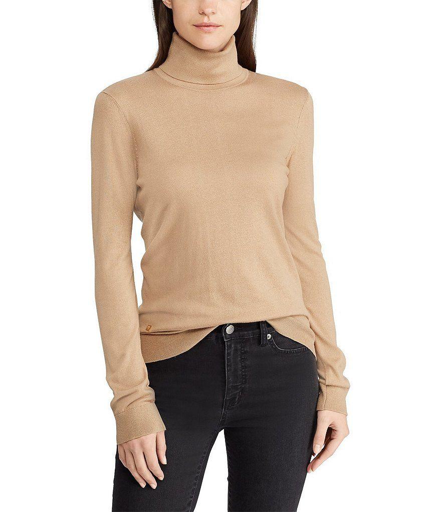 b433062a2a6c4 Lauren Ralph Lauren Ribbed Silk-Blend Turtleneck Sweater in 2019 ...