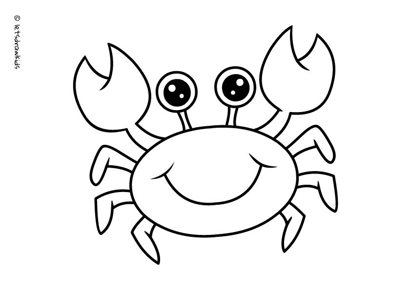 Coloring Page For Kids Crab Http Letsdrawkids Com Farm Animal Coloring Pages Animal Coloring Pages Cartoon Coloring Pages