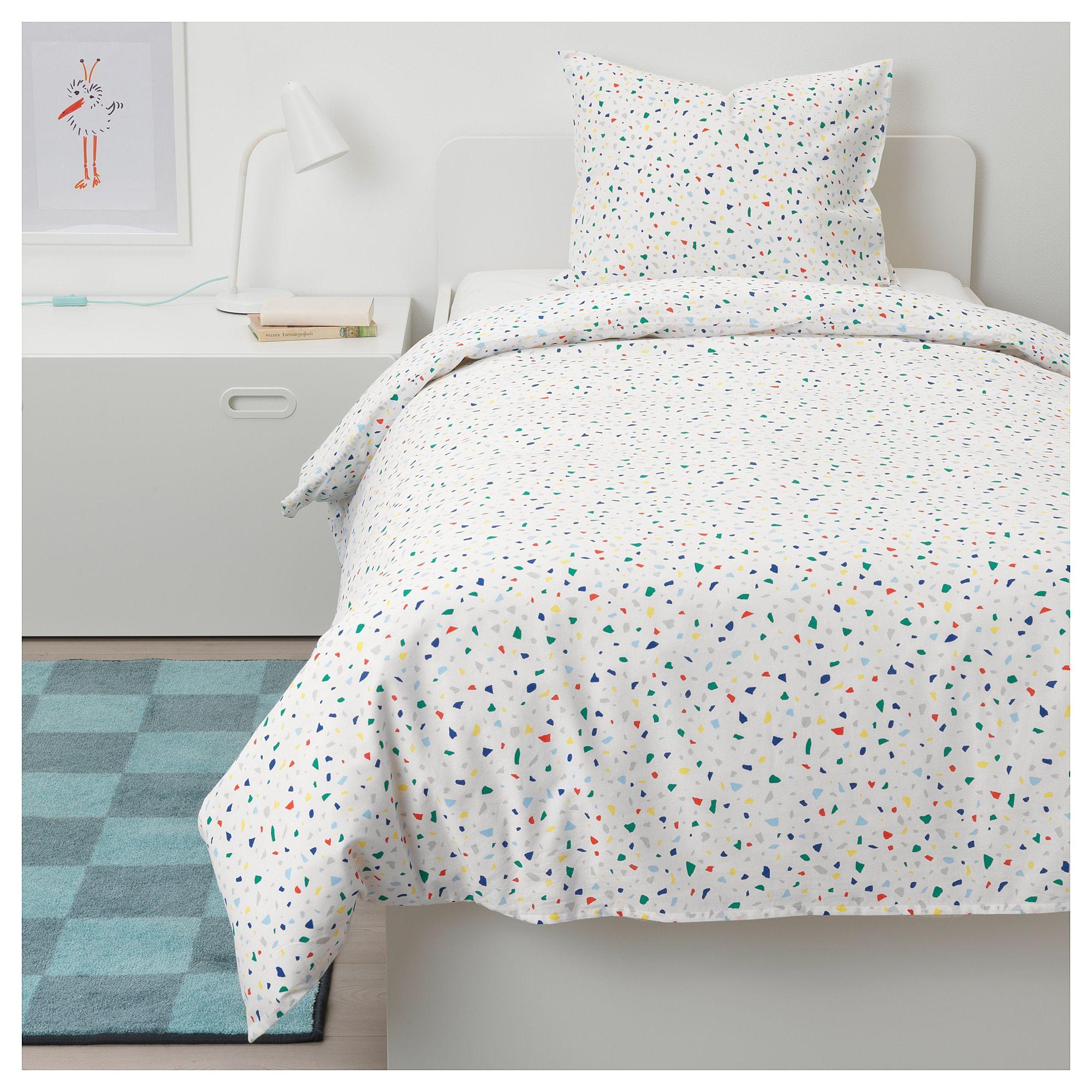 Ikea Mojlighet White Mosaic Patterned Duvet Cover And Pillowcase