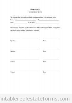 Printable Prepayment No Restrictions Template   Sample Forms