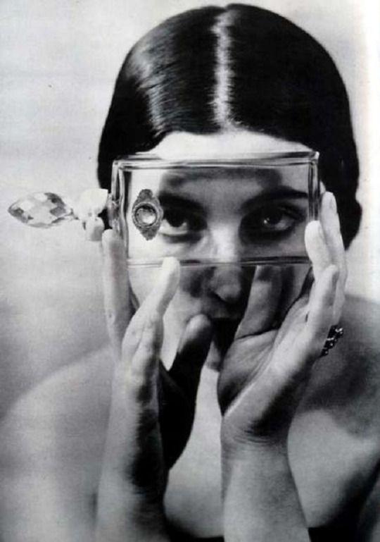 "Photo by Alexander Rodchenko. ""Portrait with Flacon"", 1930."